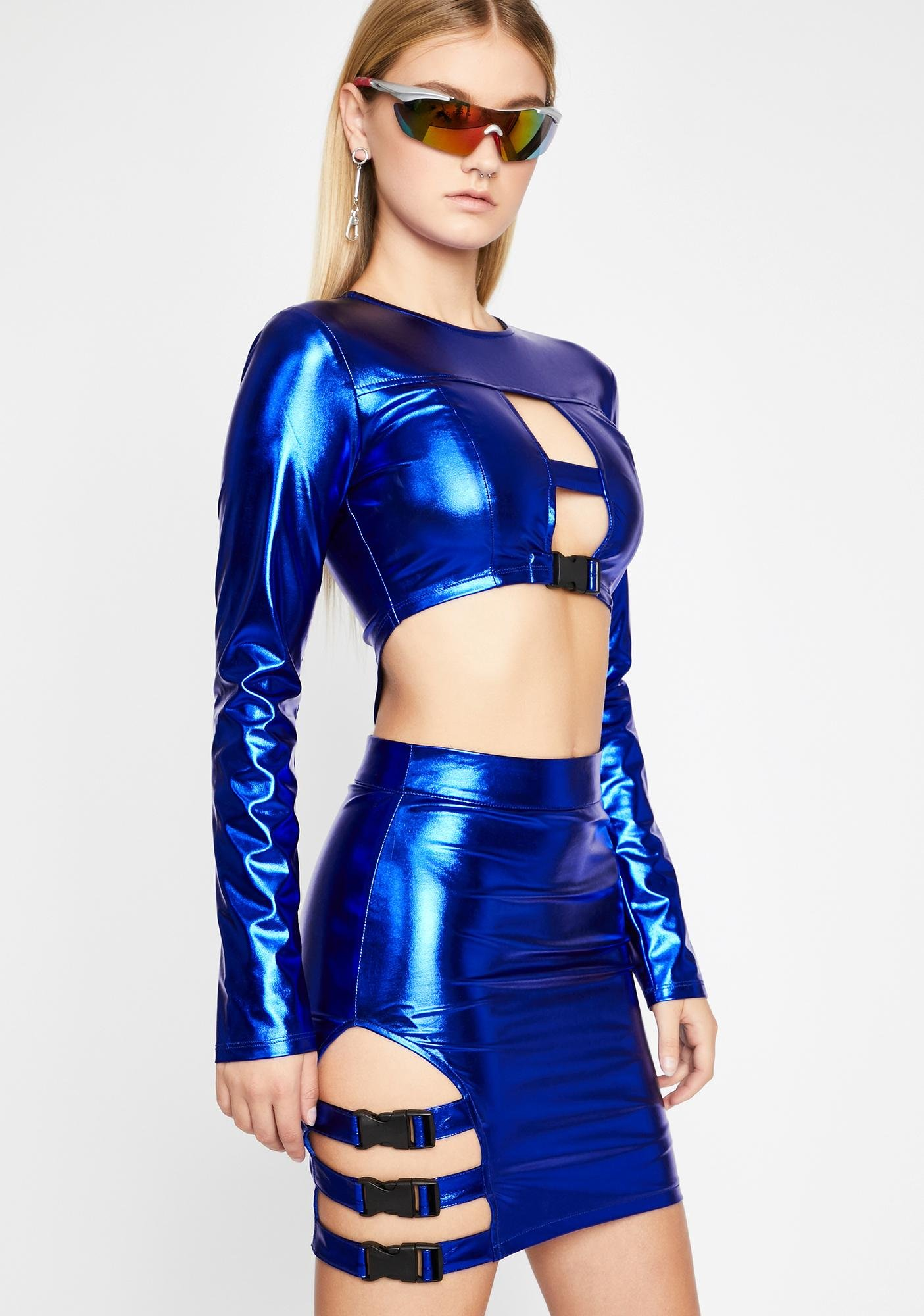 Intergalactic Commander Metallic Dress