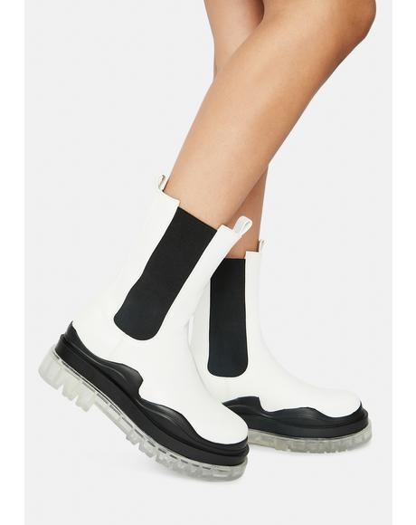 Ghosted Wavy Ankle Boots