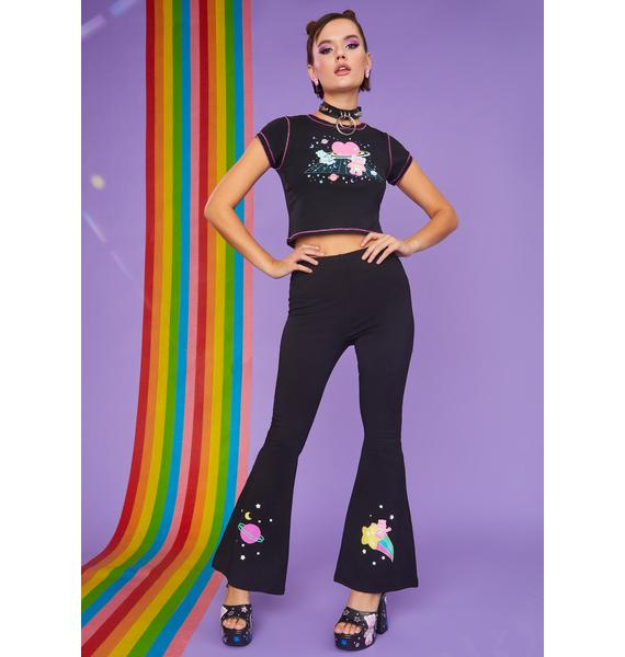 Dolls Kill x Care Bears Planet Care Printed Flares