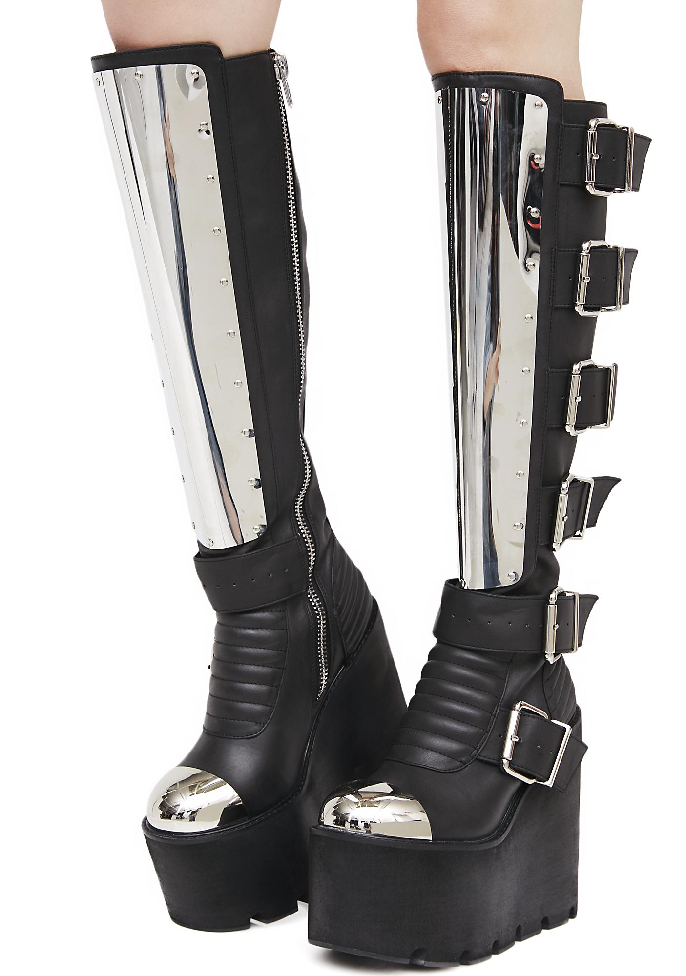 Current Mood Moto Mama Platform Boots
