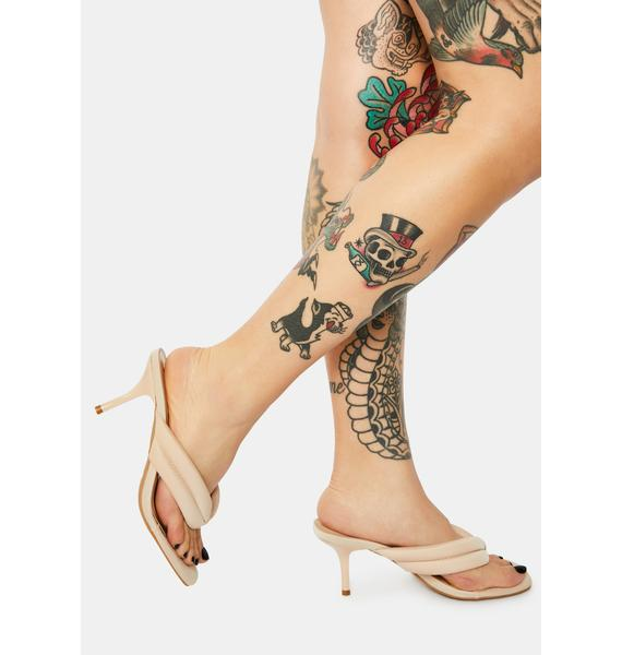 Almond Highly Requested Kitten Heels