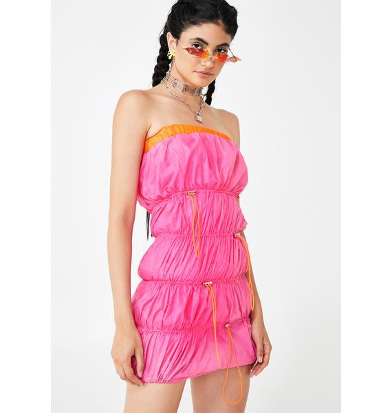 Pixie Puff Puff Pass Mini Dress