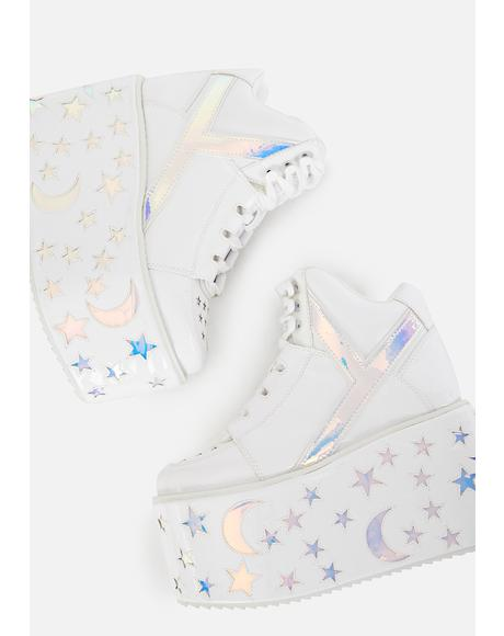Qozmo Moon Star Platform Sneakers