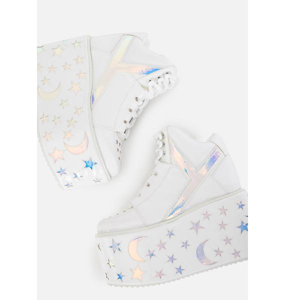Y.R.U. Qozmo Moon Star Platform Sneakers