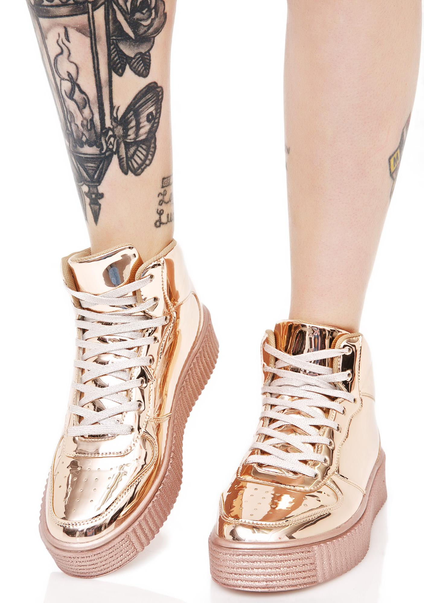 Cyborg Metallic Creeper Sneakers