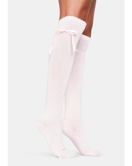 Blush Quiet Dreams Knee High Socks
