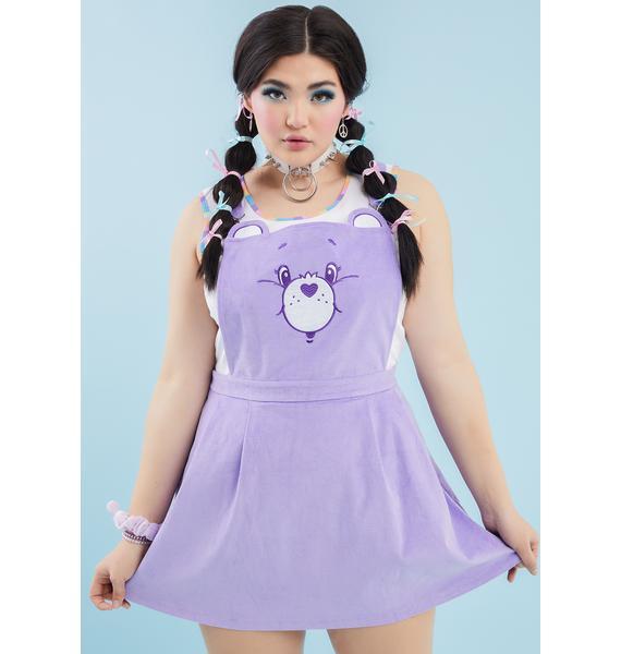 Dolls Kill x Care Bears Always Care-A-Lot Pinafore Dress