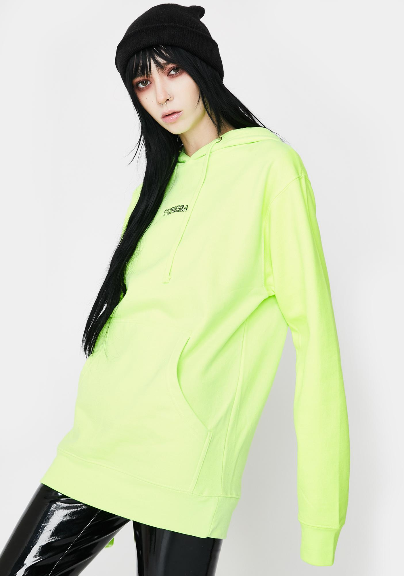 Funeral Neon Yellow Logo Hoodie