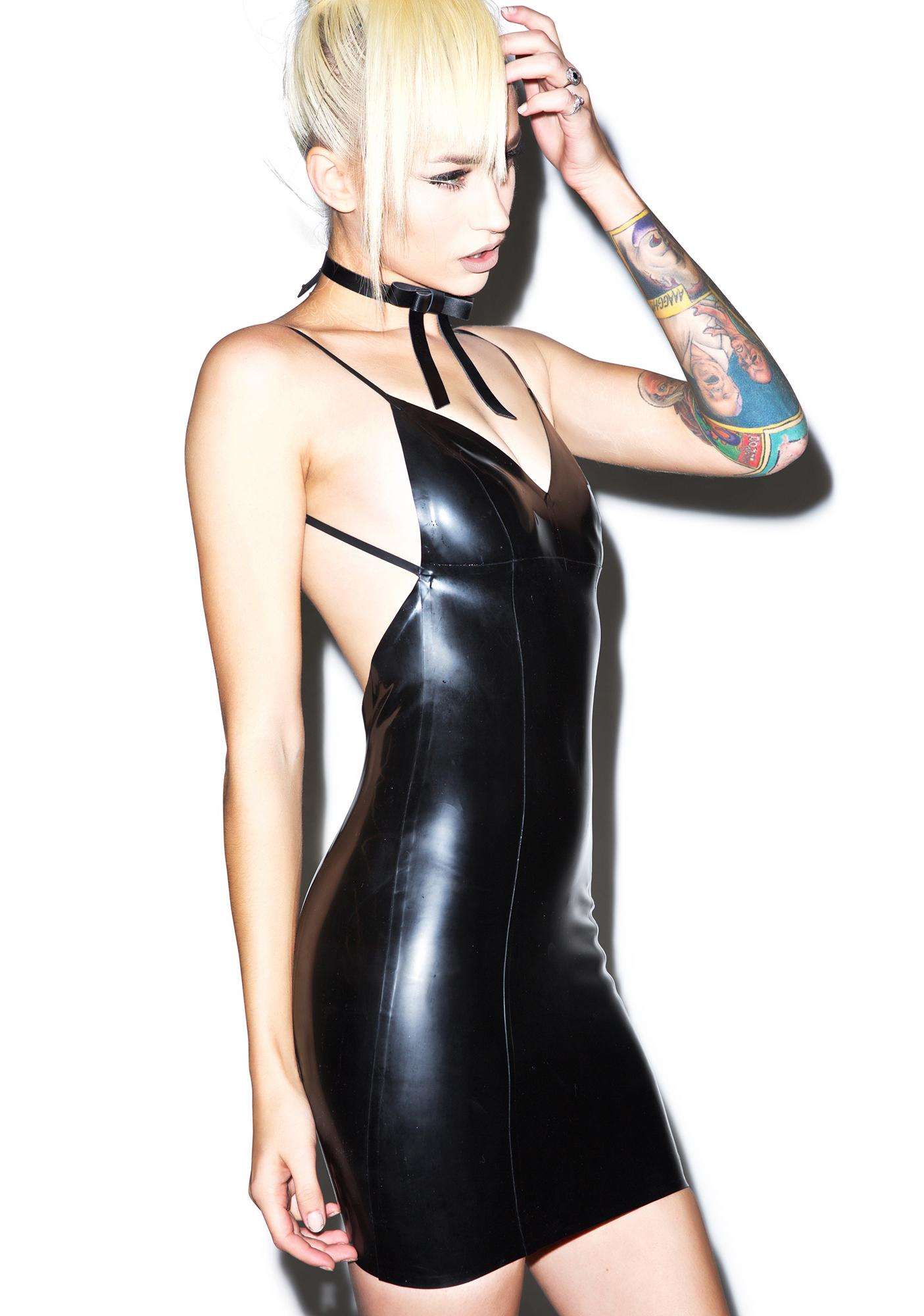 Jane Doe Latex Rebecca Mini Dress
