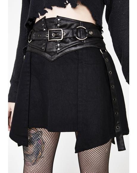 Punk Girdle Half Skirt