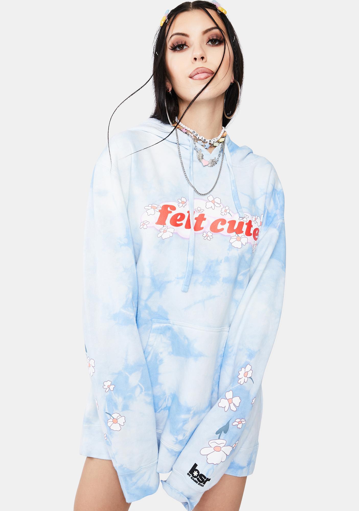 By Samii Ryan Felt Cute Tie Dye Hoodie