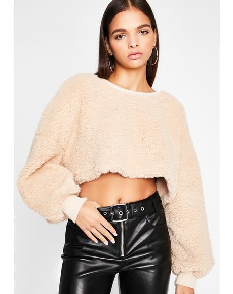 Teddy Bear Baby Crop Sweater
