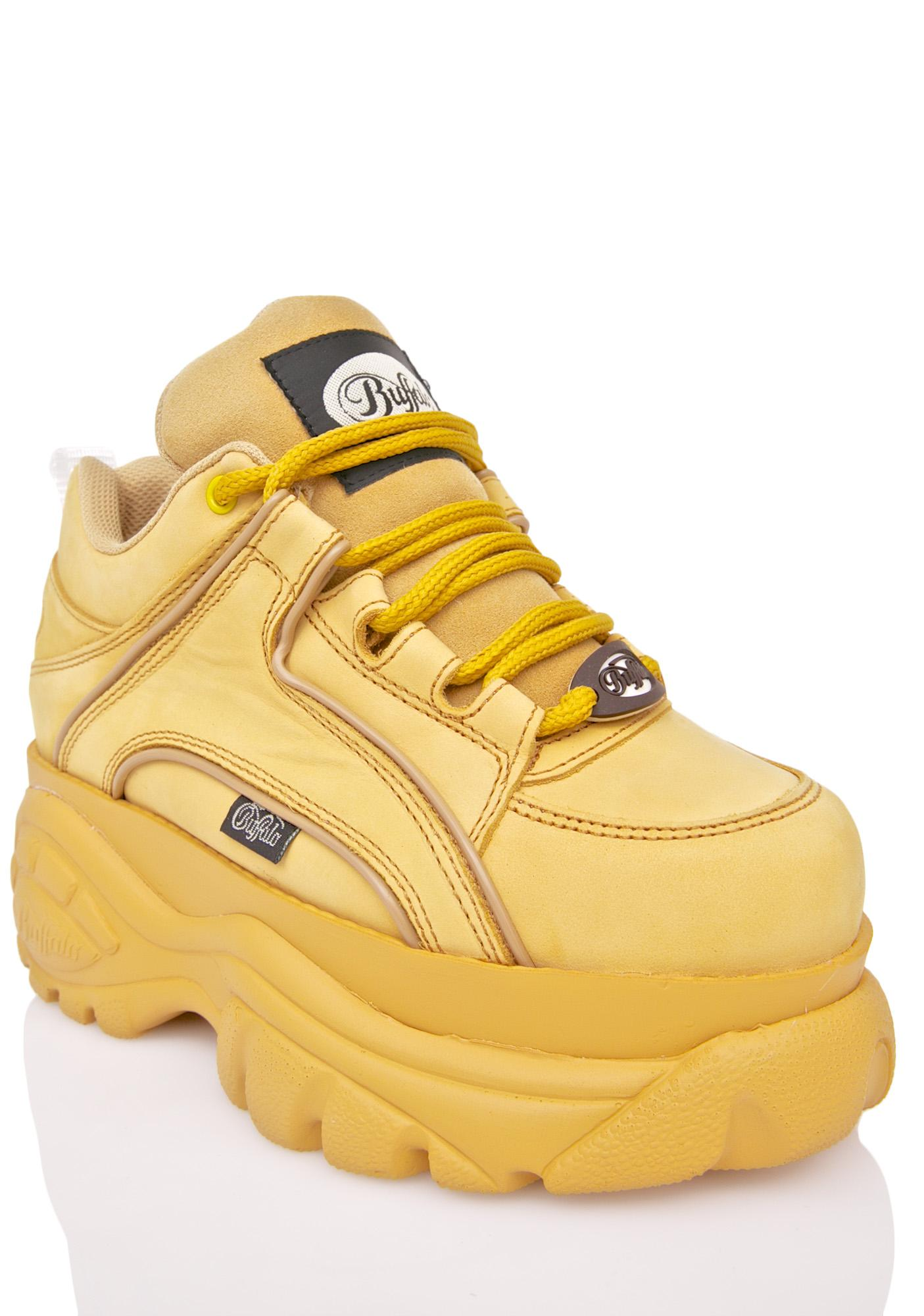 All Yellow High Top Shoes