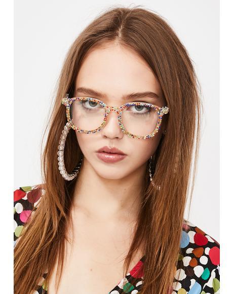 Primary Diva Dilemma Rhinestone Glasses