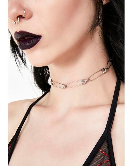 Renegade Babe Safety Pin Necklace