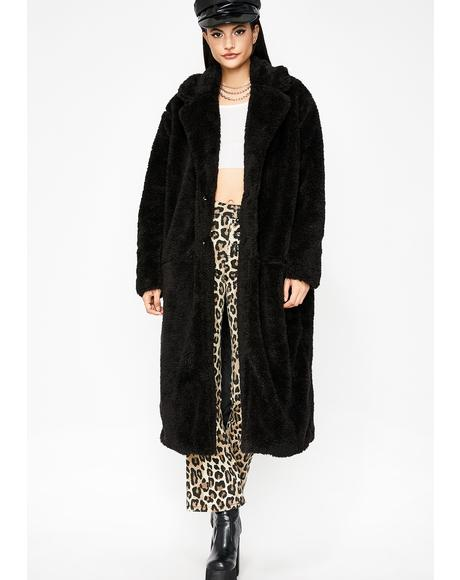 Try Me Teddy Longline Coat