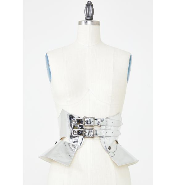 Club Exx Platinum Chaos Corset Belt