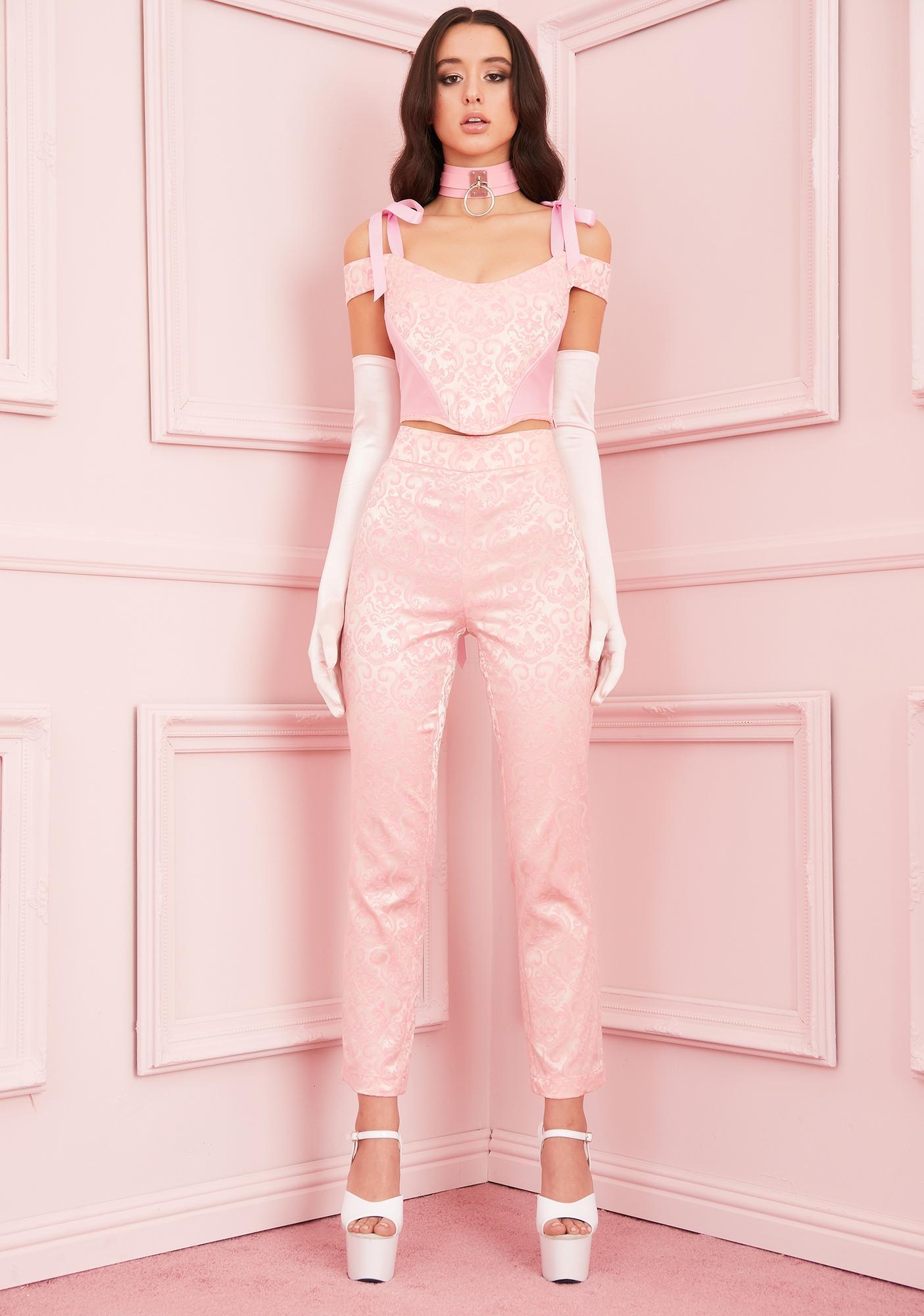 Sugar Thrillz Elegant Obsession Floral Pants