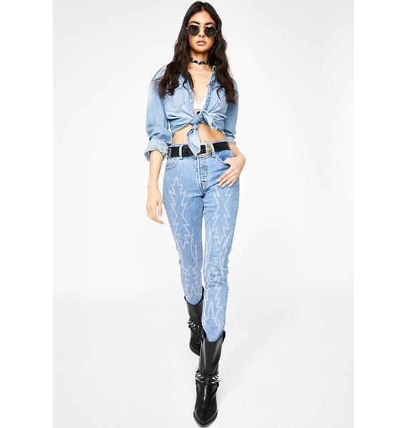 Levis Del Norte 501 Skinny Jeans