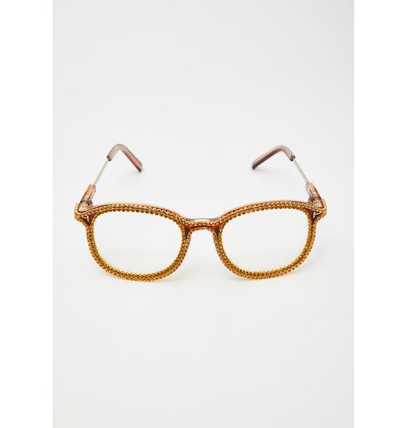 Precious Diva Dilemma Rhinestone Glasses
