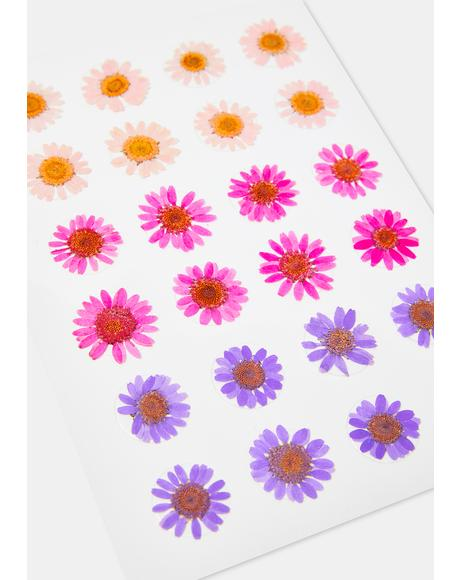 Purple & Pink Flower Body Sticker Set