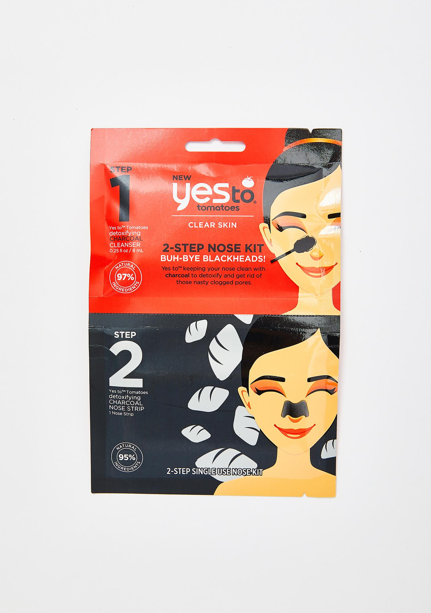 Yes To Charcoal Two Step Nose Kit