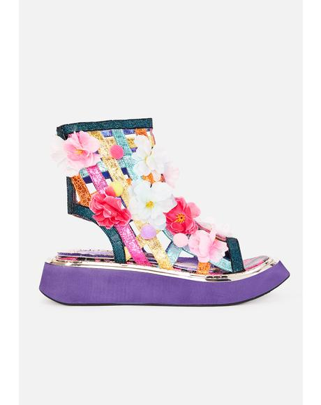 On The Grapevine Flower Sandals