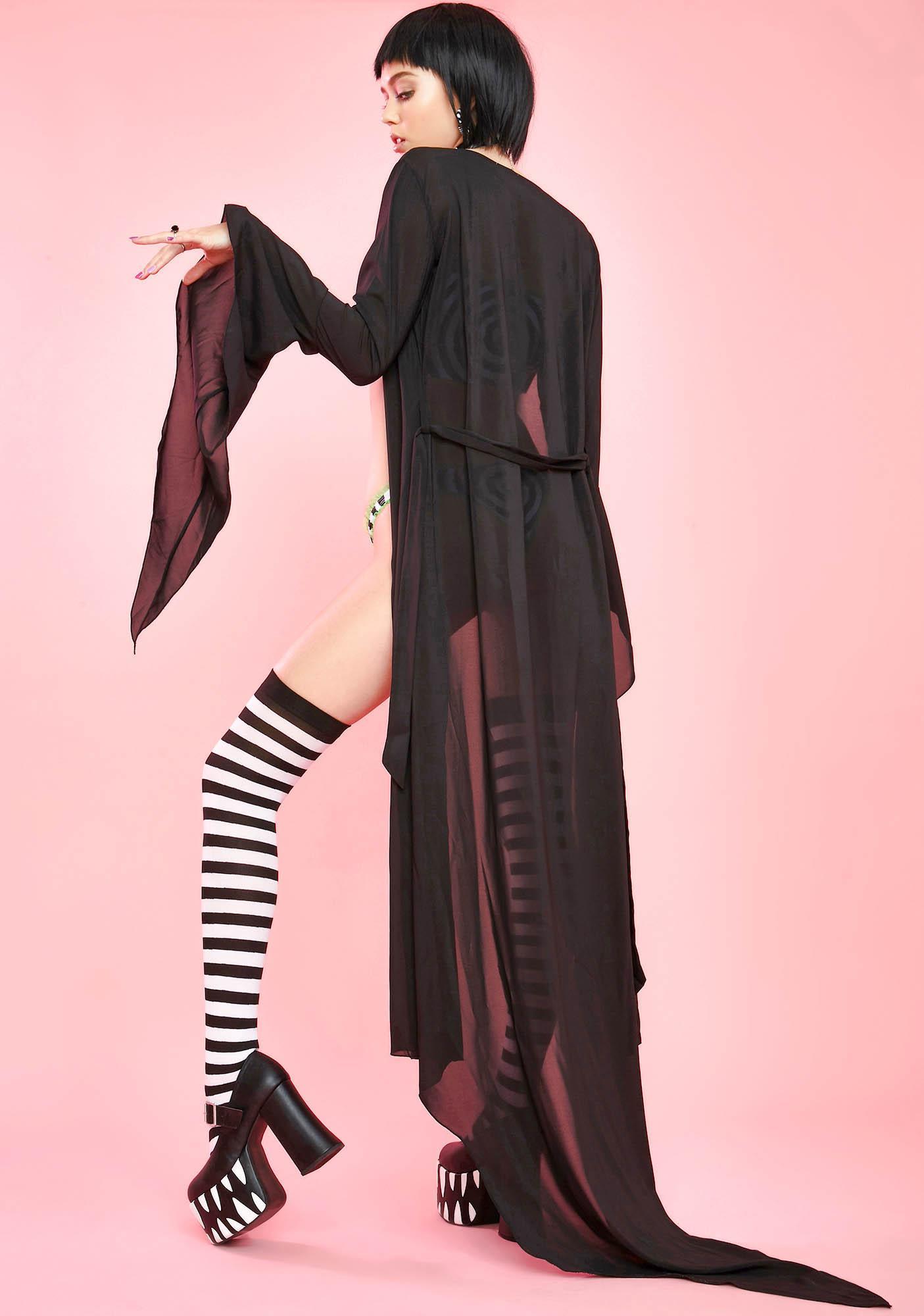 Sugar Thrillz Blissful Darkness Sheer Robe
