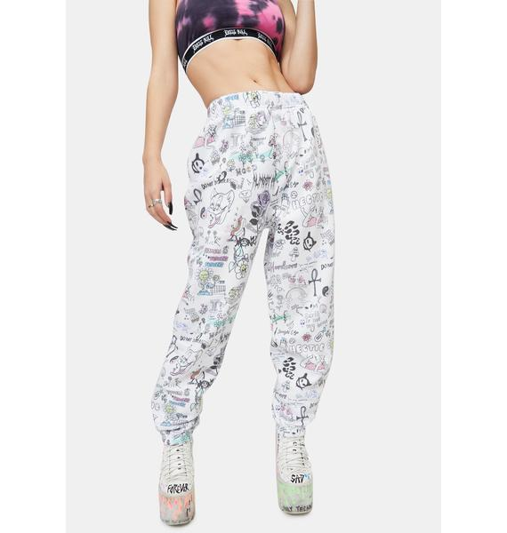 NEW GIRL ORDER Scribble Joggers