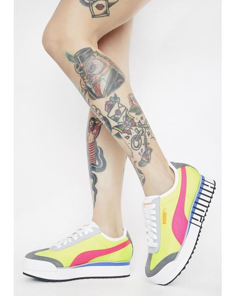 Neon Roma Amor Logo Sneakers