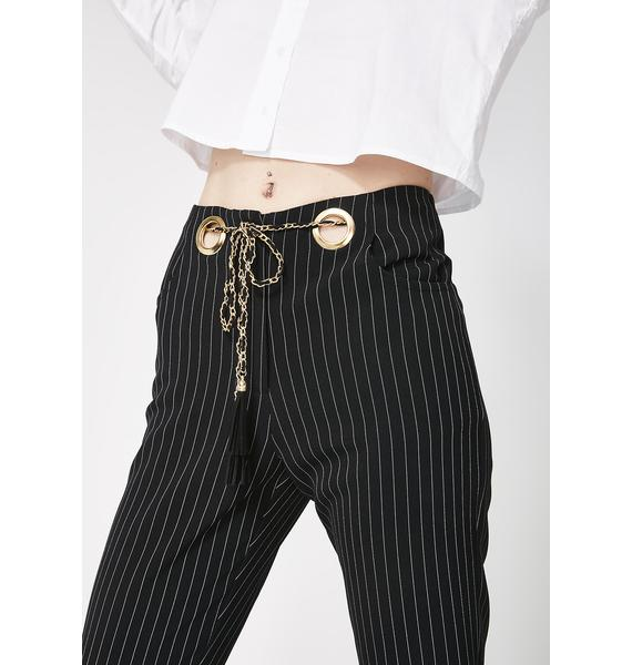 Boss You Around Pinstripe Pants