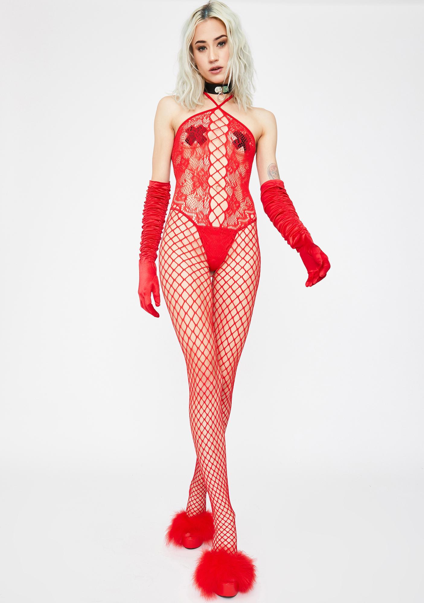 Hot Desires Fishnet Bodystocking