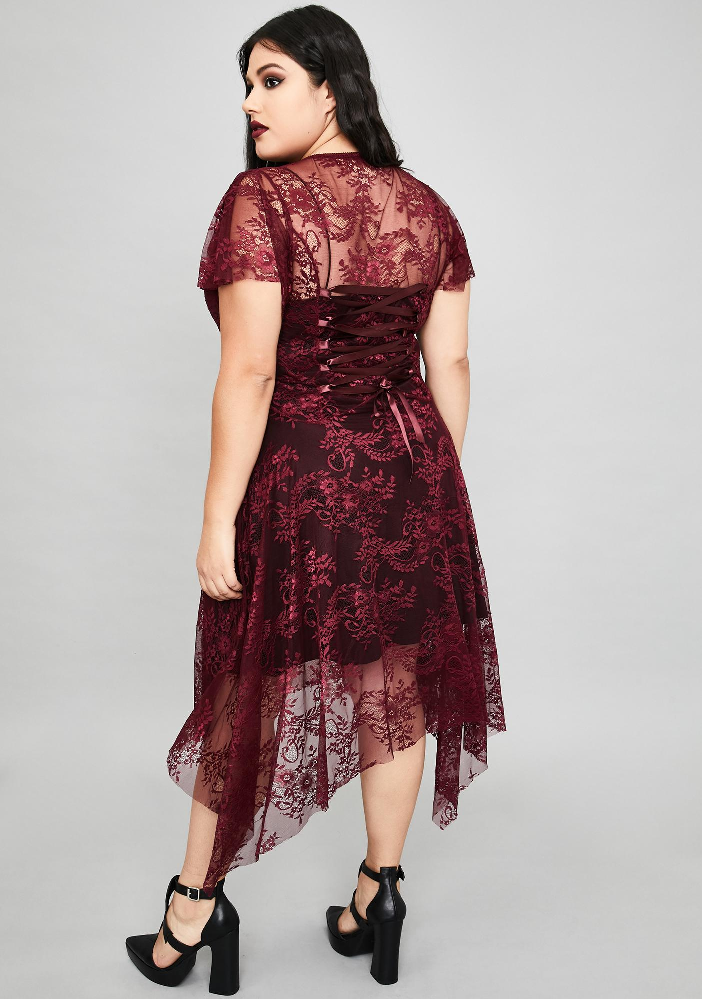Widow Wine So Dearly Departed Lace Dress