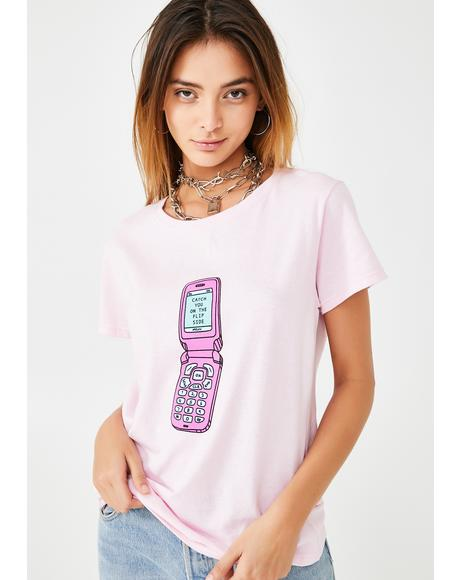 Flip Phone Boyfriend Tee