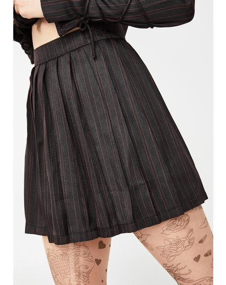 Head Mistress Pleated Skirt