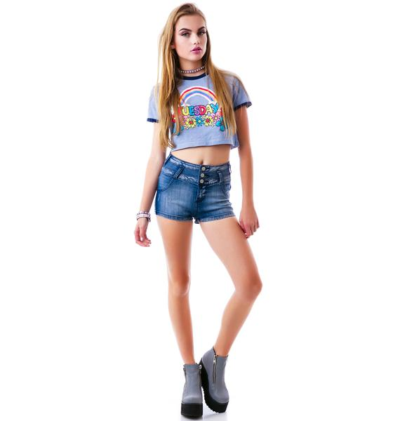 So Surreal High Waisted Denim Shorts