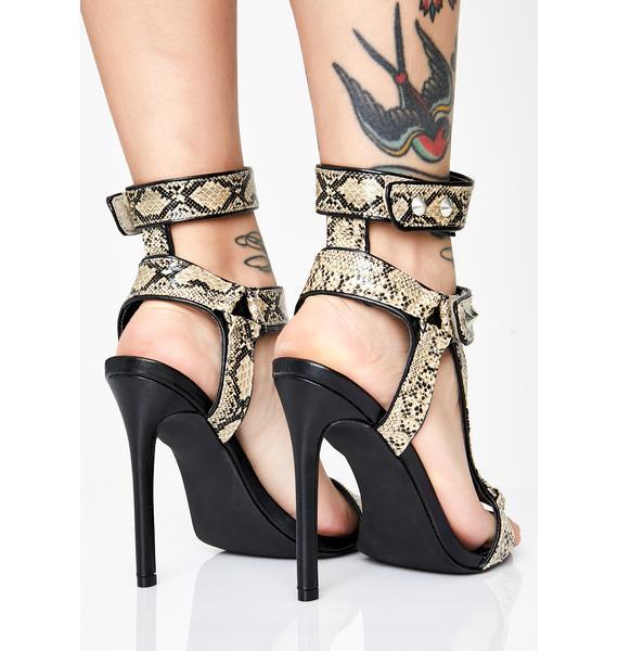 Primal Perfection Snakeskin Heels