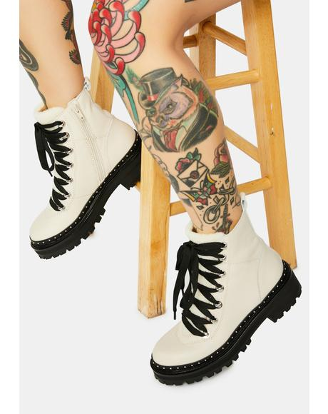 Bone Rainier Moto Boots