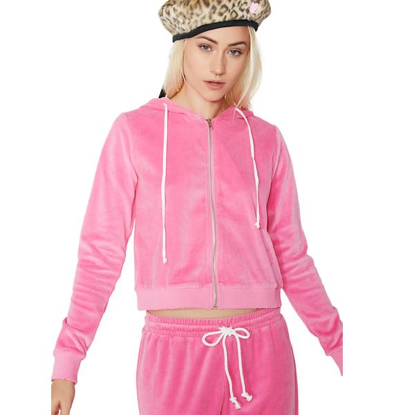 Malibu Princess Velour Zip-Up Hoodie