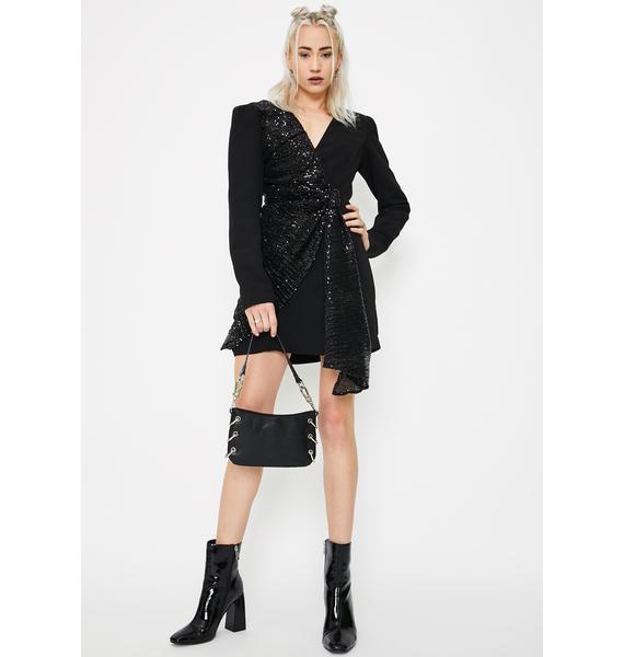 STEELE Sarine Sequin Blazer Dress