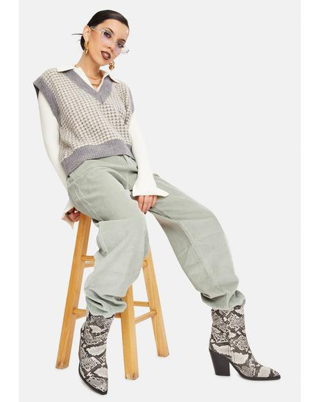 Mint Harriet Corduroy Pants