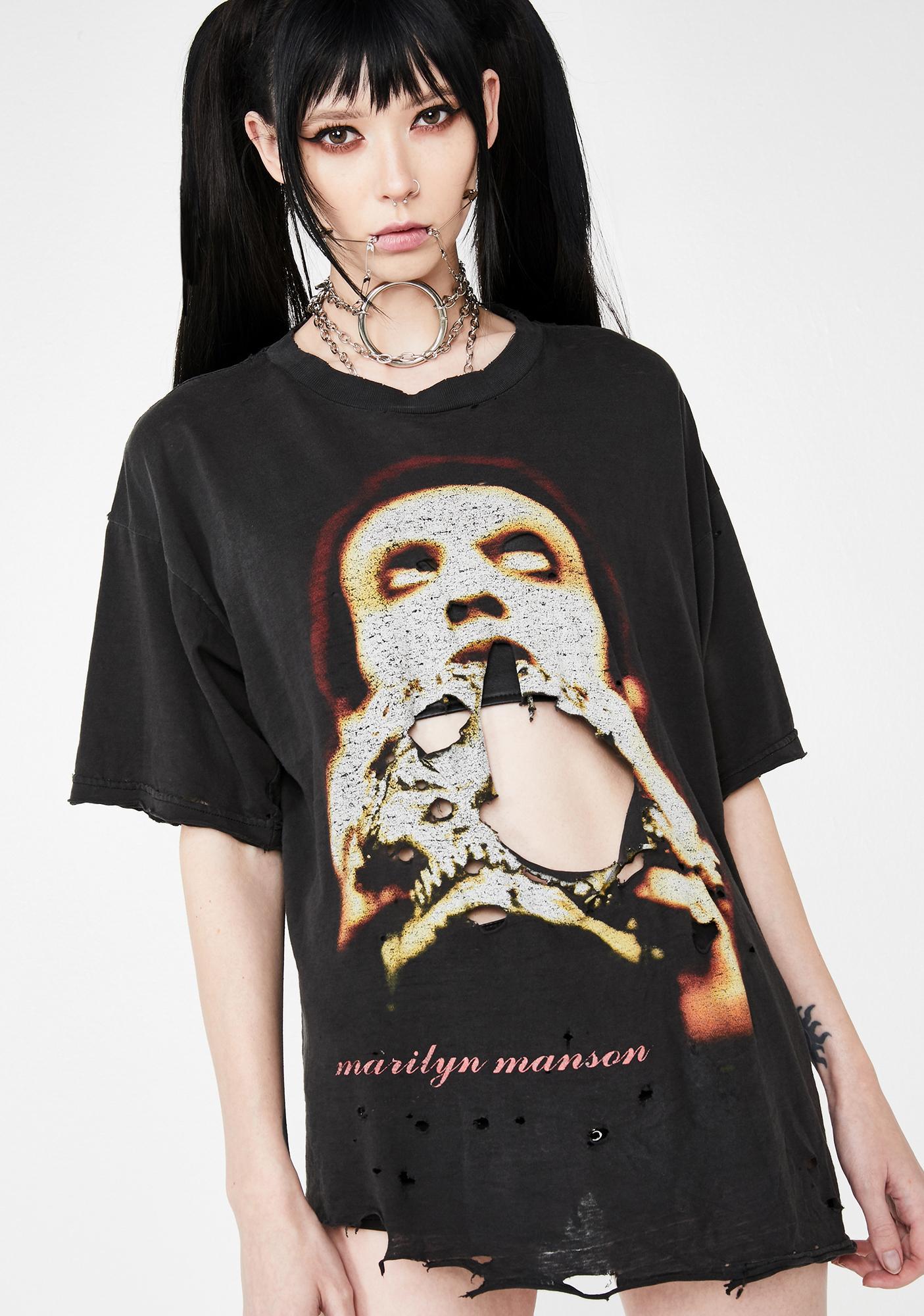 150dbb9e93d6 Vintage Distressed Marilyn Manson Tee | Dolls Kill
