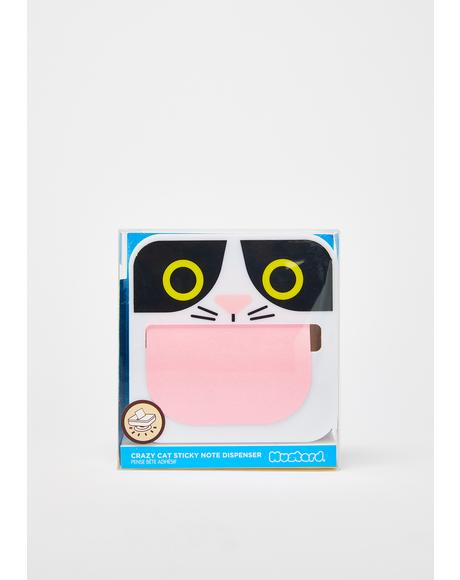 Crazy Cat Sticky Note Dispenser