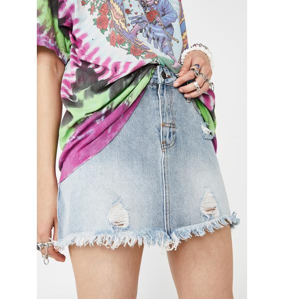 The People VS Vixen Denim Skirt