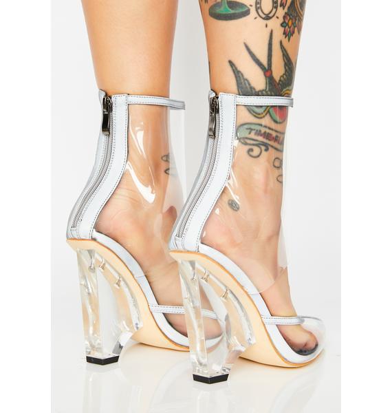 AZALEA WANG Kitty Reflective Heels