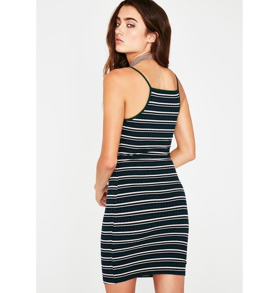 Dank Set It Off Stripe Dress