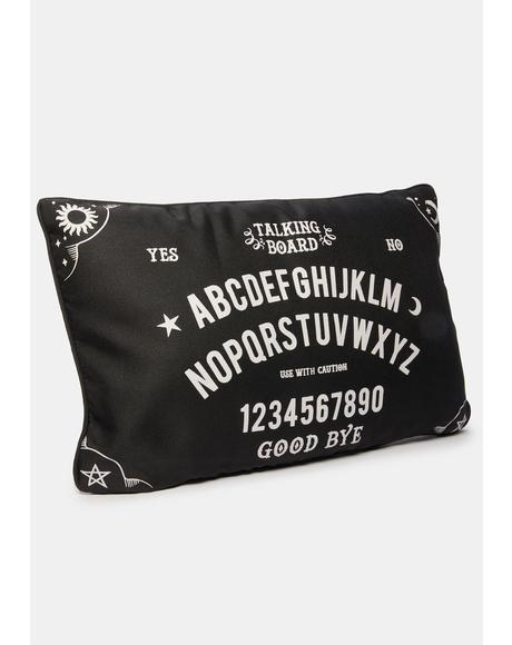 At Your Own Risk Ouija Board Pillow