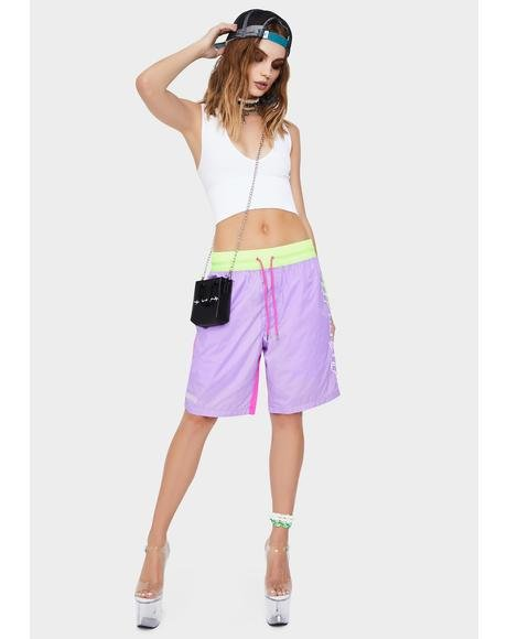 Flo-Res Color Block Swim Shorts