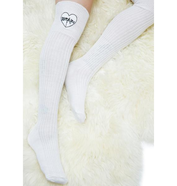 Morph8ne Heart Logo Knee High Socks