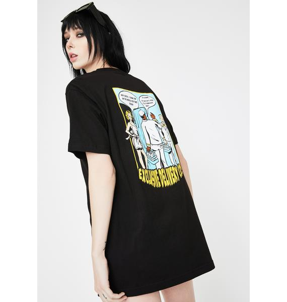 EXCLUSIVE DELIVERY CO. Two Please Graphic Tee